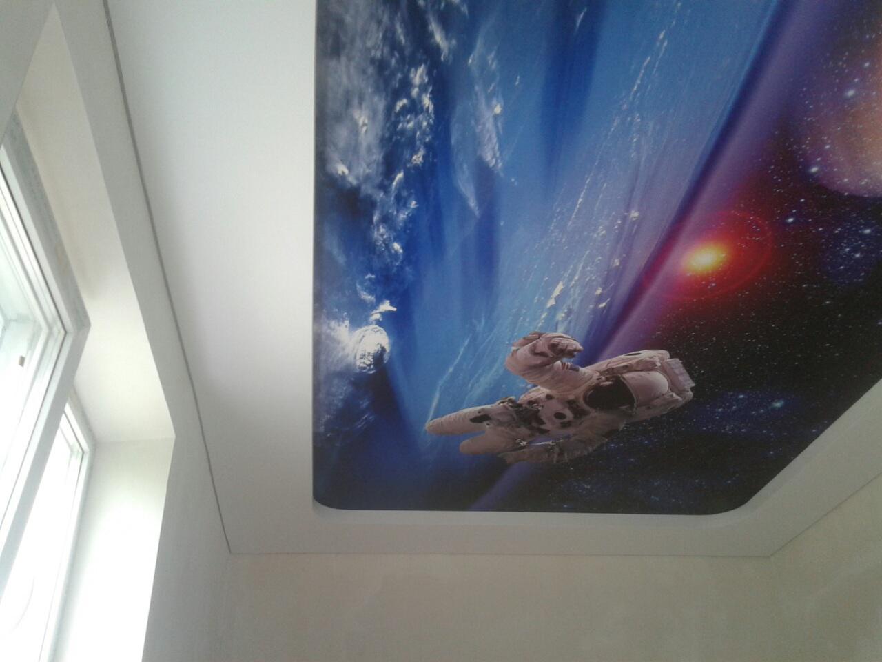 Потолки с фотопечатью на сатине